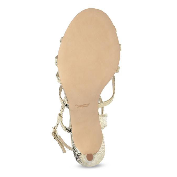 Wyjściowe złote sandały ze skóry bata, 726-8648 - 18