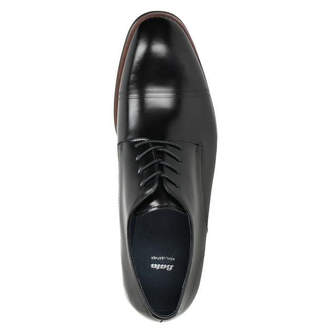 Czarne skórzane półbuty typu angielki bata, czarny, 826-6681 - 15