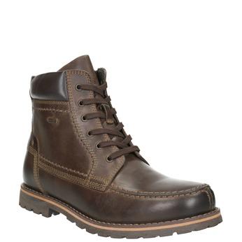 Buty męskie za kostkę bata, brązowy, 896-4640 - 13