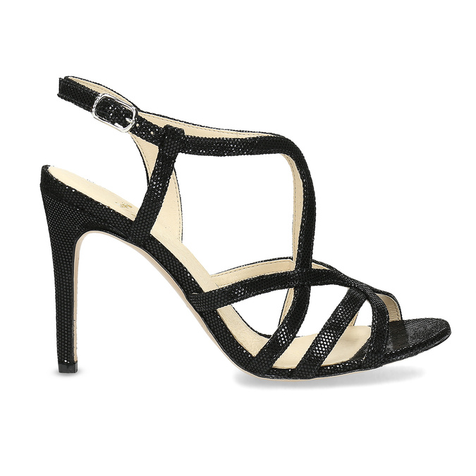 Wyjściowe sandały damskie bata, czarny, 726-6648 - 19