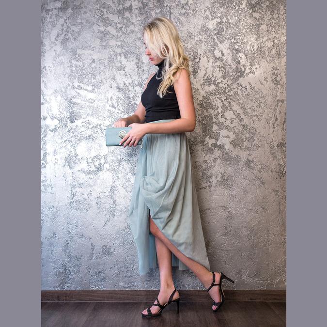 Wyjściowe sandały damskie zkryształkami bata, czarny, 729-6611 - 19