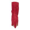 Czerwone skórzane kozaki wszpic bata, czerwony, 793-5612 - 15
