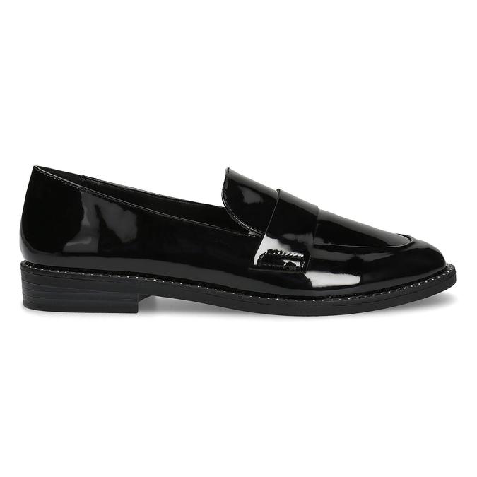 Lakierowane mokasyny damskie bata, czarny, 511-6607 - 19