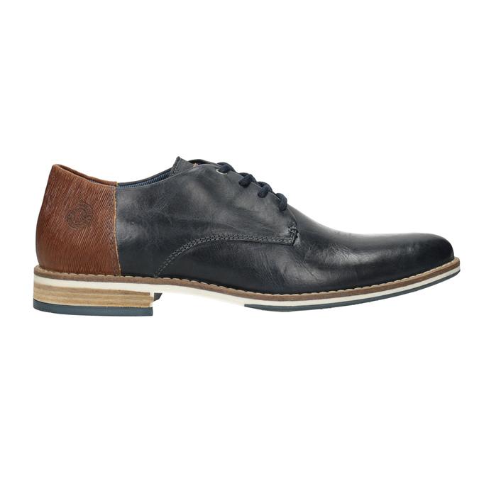 Skórzane półbuty męskie typu angielki bata, niebieski, 826-9924 - 26