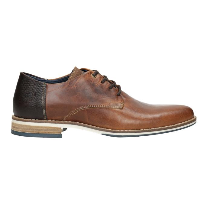Brązowe skórzane półbuty bata, brązowy, 826-3924 - 26