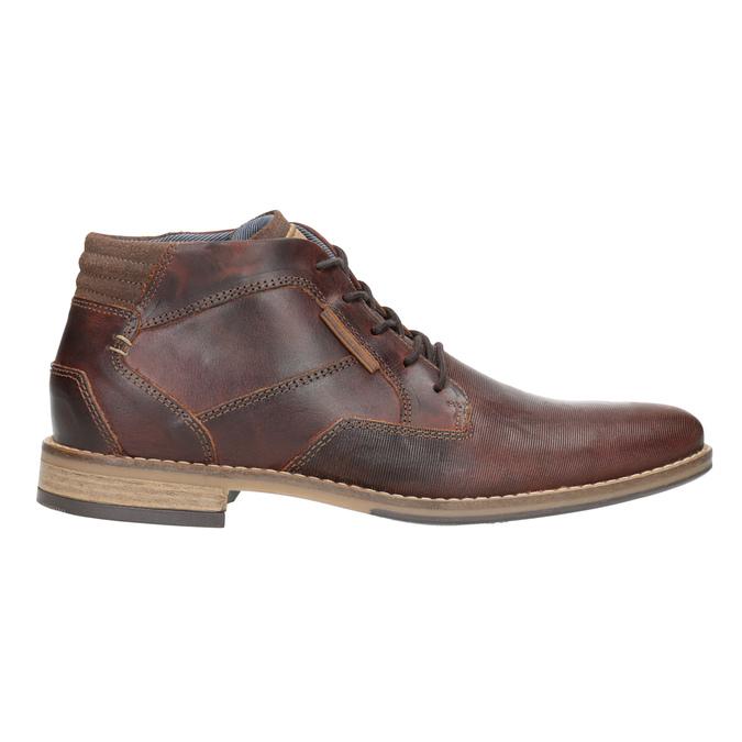 Skórzane buty męskie za kostkę bata, brązowy, 826-3926 - 26
