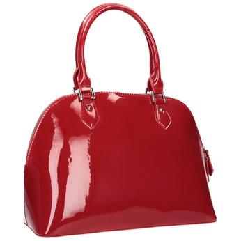 Czerwona lakierowana torebka bata, czerwony, 961-5849 - 13