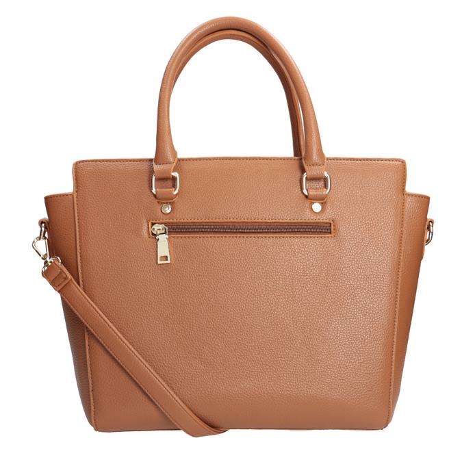 Brązowa torba zodpinanym paskiem bata, brązowy, 961-3845 - 16