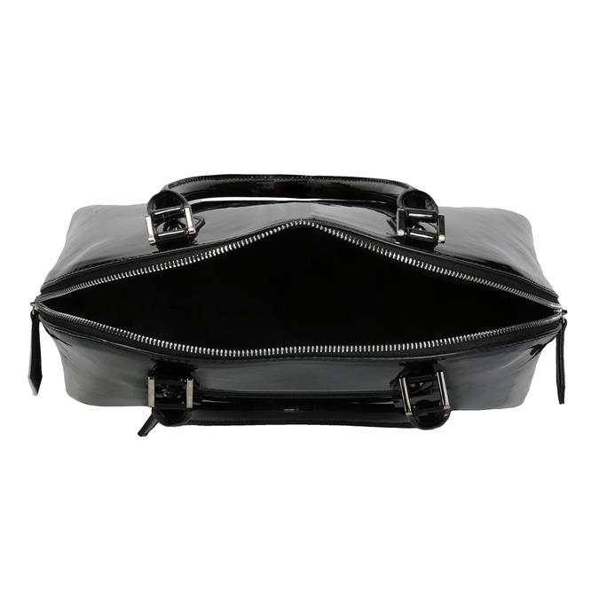 Czarna lakierowana torebka bata, czarny, 961-6849 - 15