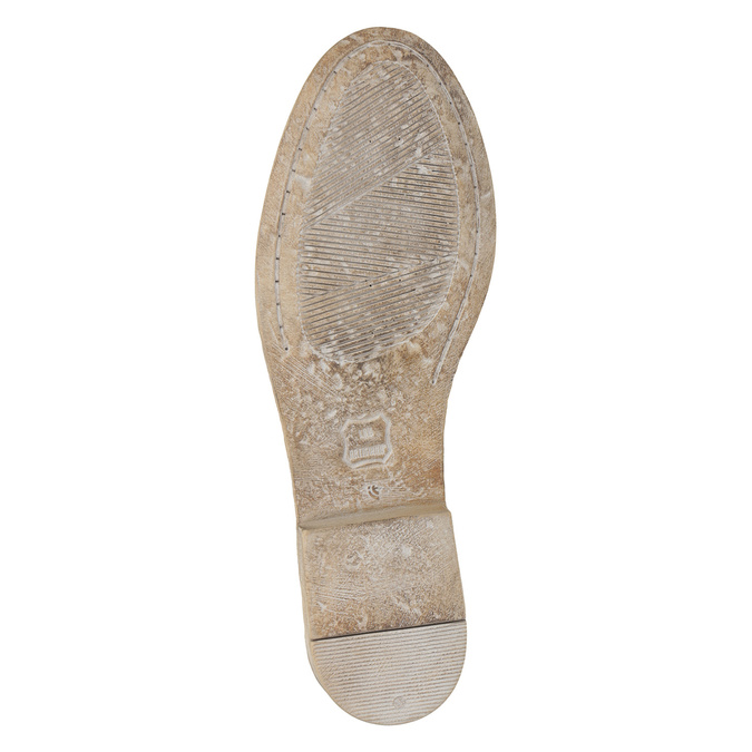 Skórzane kozaki zhaftem bata, brązowy, 596-4687 - 19
