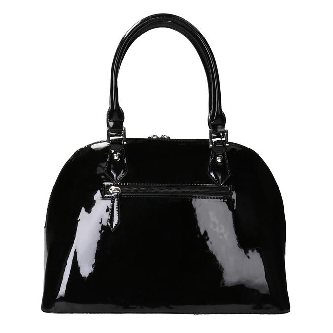 Czarna lakierowana torebka bata, czarny, 961-6849 - 16