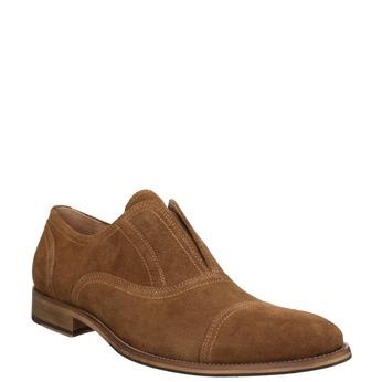 Zamszowe półbuty męskie typu oksfordy bata, brązowy, 823-3618 - 13