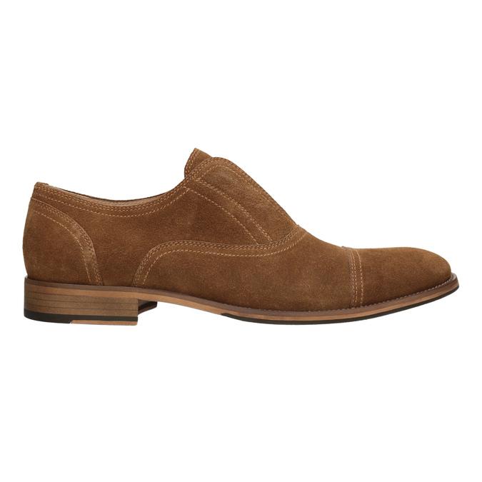 Zamszowe półbuty męskie typu oksfordy bata, brązowy, 823-3618 - 26