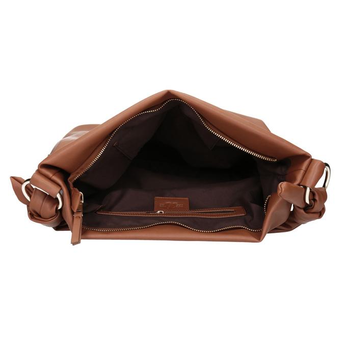 Brązowa torba damska wstylu hobo bata, brązowy, 961-3843 - 15