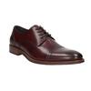 Skórzane bordowe półbuty męskie bata, czerwony, 826-5812 - 13
