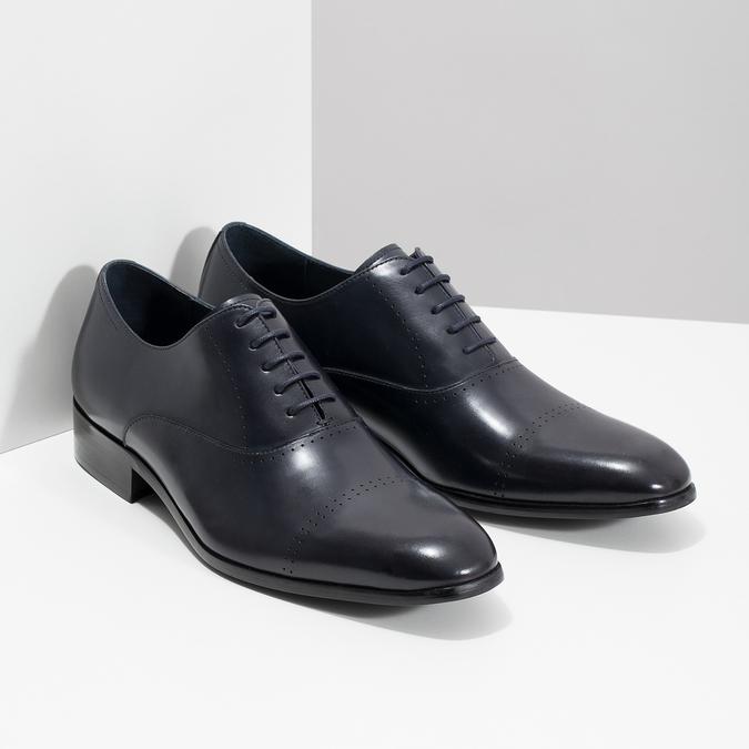 Niebieskie skórzane półbuty typu oksfordy bata, niebieski, 826-9852 - 26