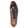 Brązowe skórzane półbuty typu angielki bata, brązowy, 826-3863 - 15