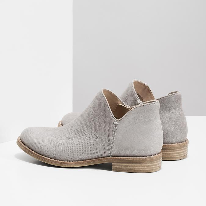 Botki damskie bata, szary, 596-2685 - 16