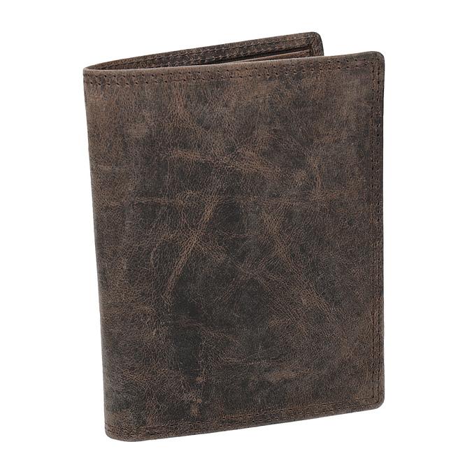 Brązowy skórzany portfel męski bata, brązowy, 944-4208 - 13