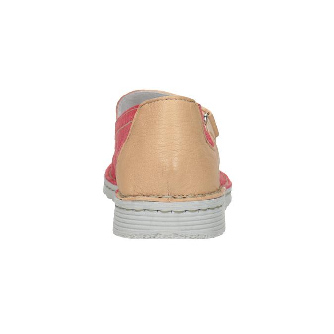 Skórzane baleriny zpaskami bata, czerwony, 526-5651 - 16