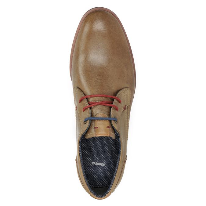 Skórzane półbuty zkolorowymi sznurówkami bata, brązowy, 826-4928 - 15