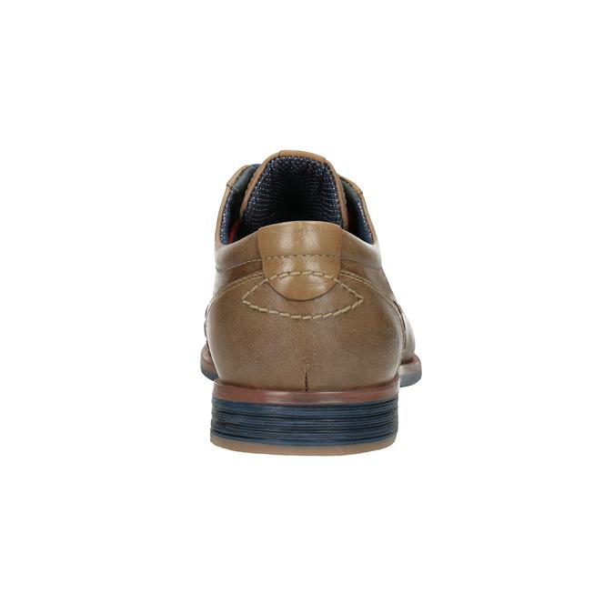 Skórzane półbuty zkolorowymi sznurówkami bata, brązowy, 826-4928 - 16