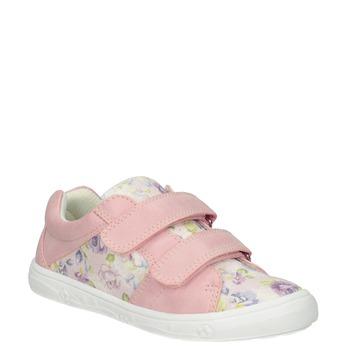 Różowe trampki dziewczęce wdeseń mini-b, 221-5215 - 13