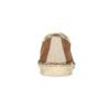 Skórzane półbuty damskie wnieformalnym stylu bata, brązowy, 526-4652 - 15