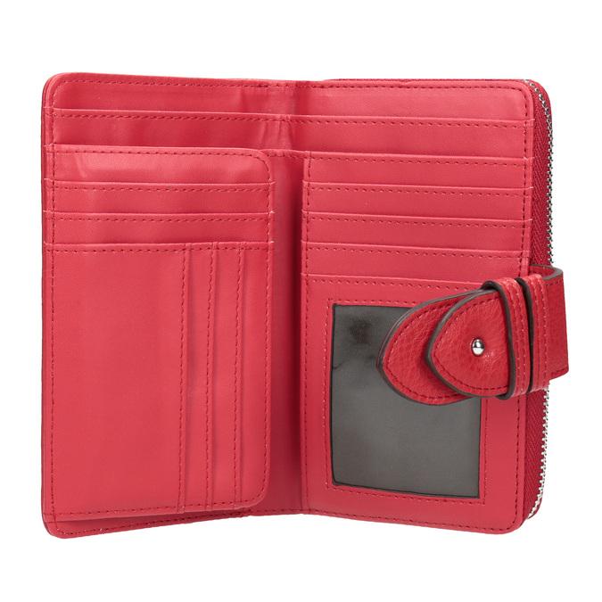 Czerwony portfel damski bata, czerwony, 941-5160 - 15