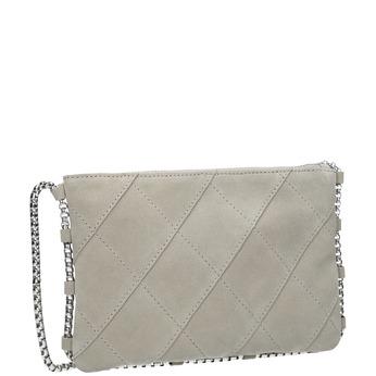 Skórzana torebka damska typu crossbody bata, biały, 963-1193 - 13
