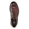 Skórzane półbuty męskie ze zdobieniami brogue bata, brązowy, 826-4827 - 17