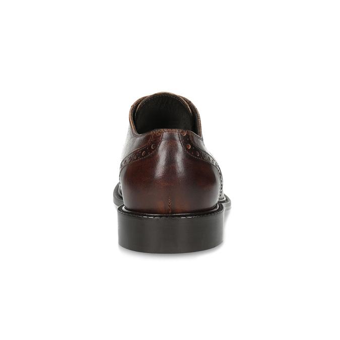 Skórzane półbuty męskie ze zdobieniami brogue bata, brązowy, 826-4827 - 15