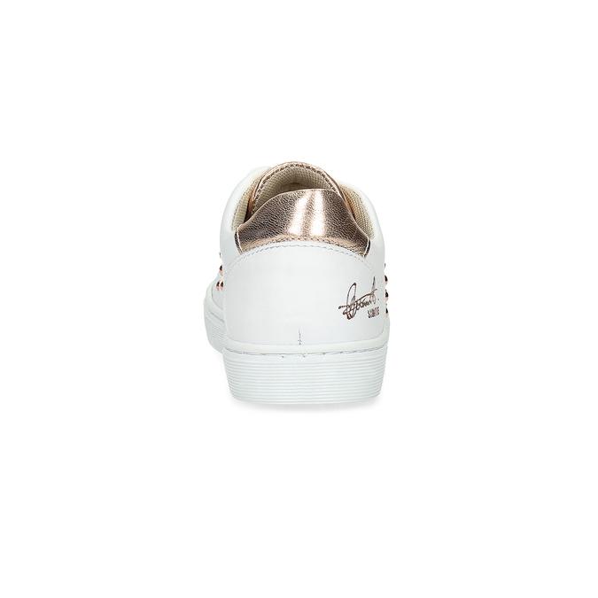 Skórzane trampki dziecięce zćwiekami mini-b, biały, 324-1605 - 15