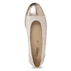 Skórzane baleriny oszerokościG gabor, beżowy, 626-8055 - 17