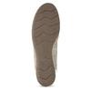 Skórzane baleriny zkryształkami gabor, beżowy, 526-8502 - 18