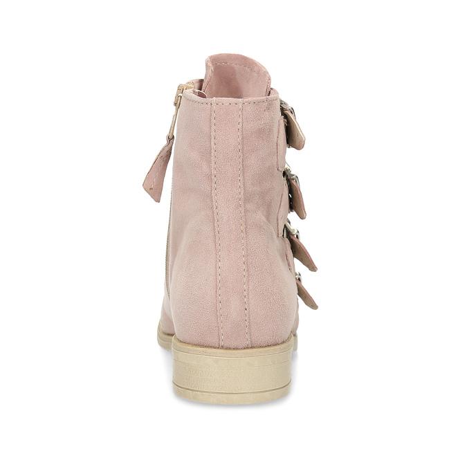 Skórzane kozaki zklamrami bata, różowy, 596-5691 - 15
