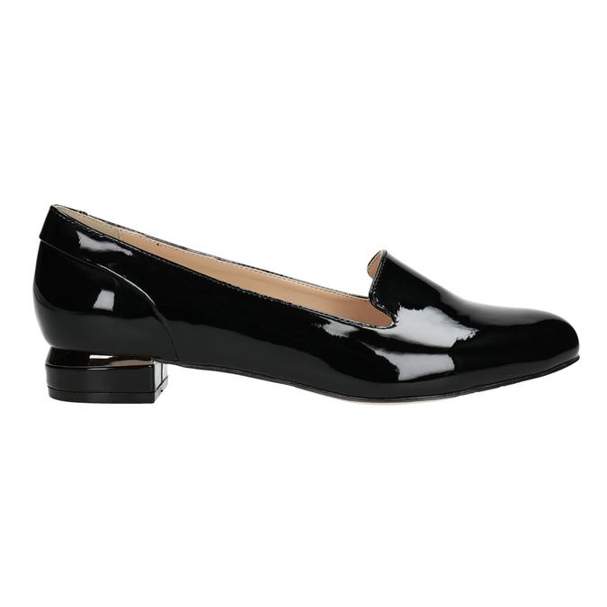 Loafersy damskie na niskich obcasach bata, czarny, 511-6608 - 26