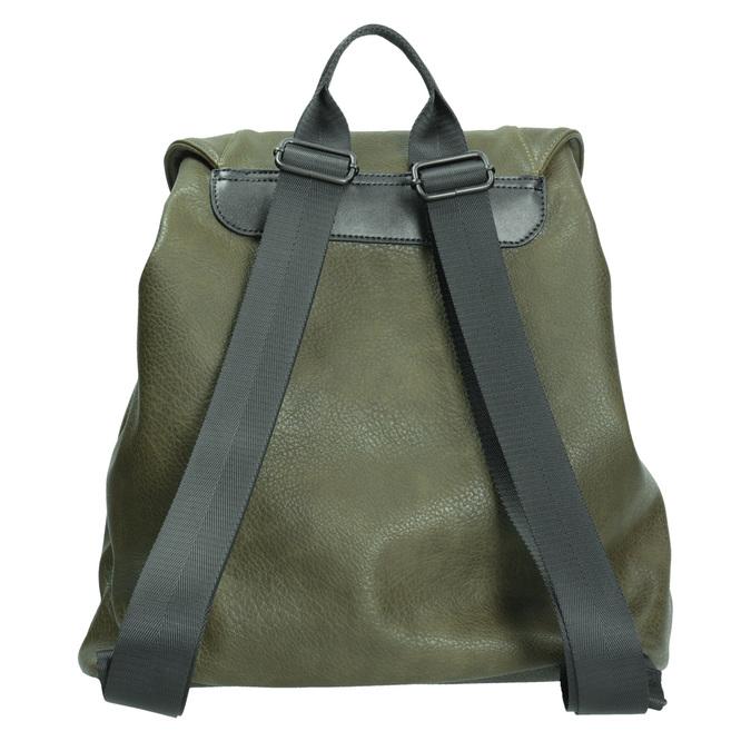 Zielony plecak damski bata, khaki, 961-7833 - 16