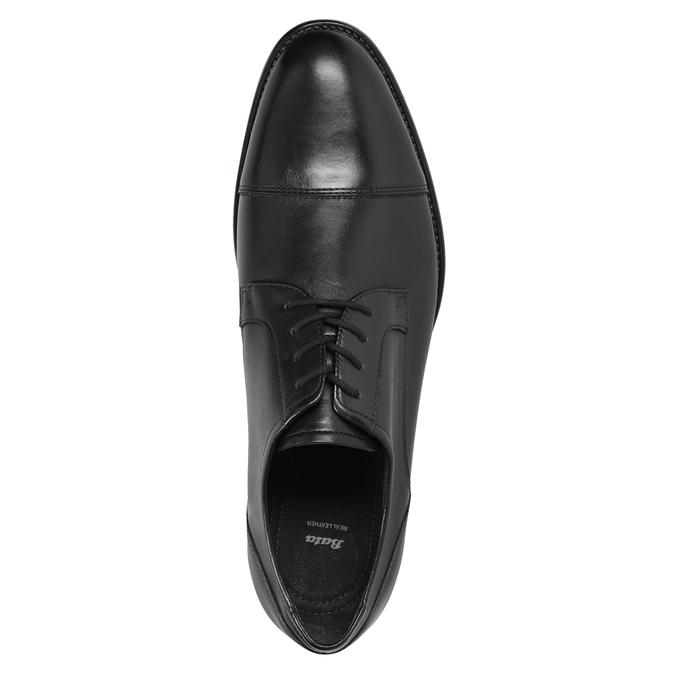 Skórzane półbuty męskie typu angielki bata, czarny, 824-6995 - 15