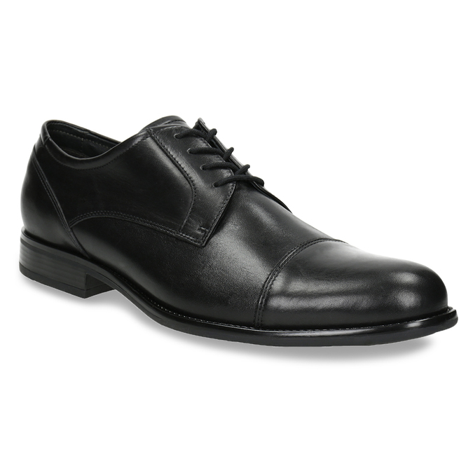 Skórzane półbuty męskie typu angielki bata, czarny, 824-6995 - 13