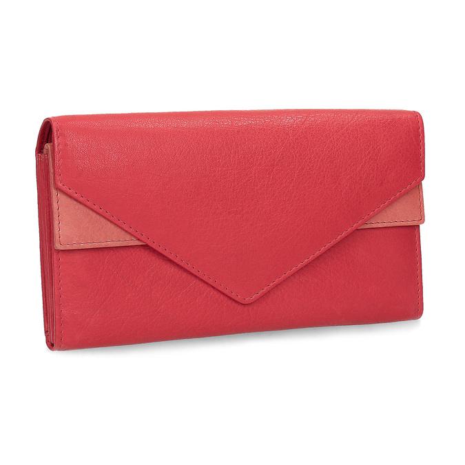 Skórzany portfel damski bata, czerwony, 944-5211 - 13