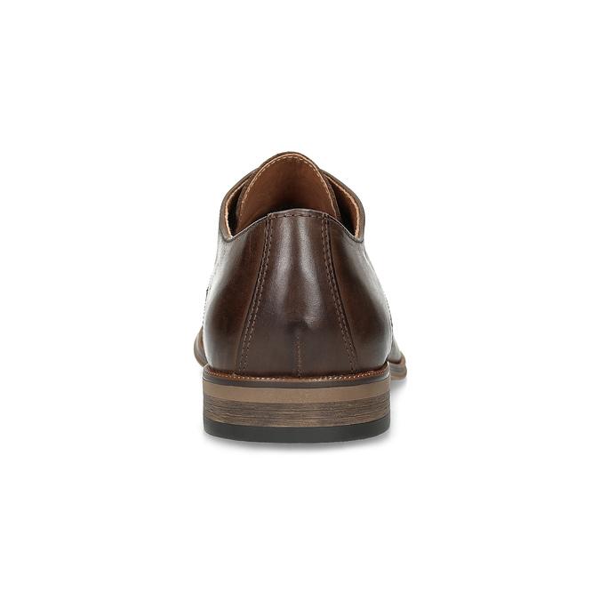 Skórzane półbuty męskie ze zdobieniami bata, brązowy, 826-4927 - 15