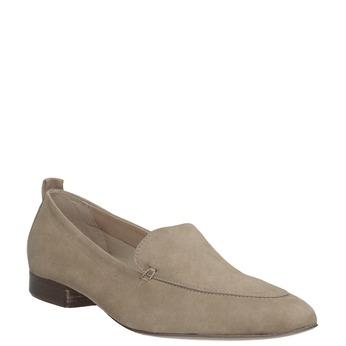 Nieformalne zamszowe mokasyny bata, brązowy, 516-4618 - 13