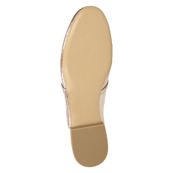 Klapki damskie zwędzidłami bata, złoty, 511-8609 - 17