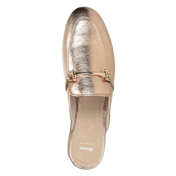 Klapki damskie zwędzidłami bata, złoty, 511-8609 - 15