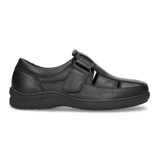 Skórzane sandały męskie pinosos, czarny, 864-6626 - 19