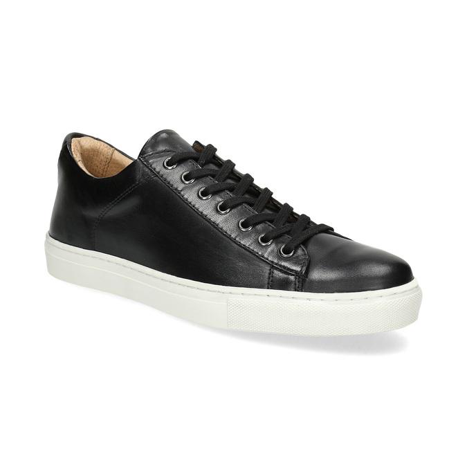 Skórzane trampki męskie bata, czarny, 844-6648 - 13