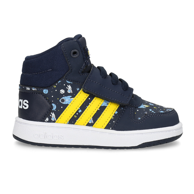 Niebieskie trampki chłopięce za kostkę adidas, niebieski, 101-9125 - 19
