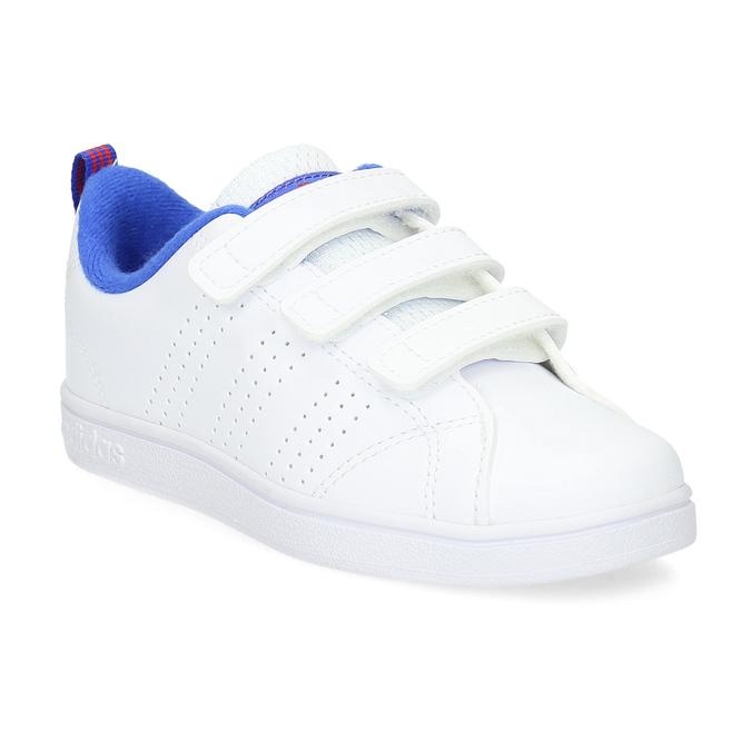 Białe trampki dziecięce na rzepy adidas, biały, 301-1968 - 13