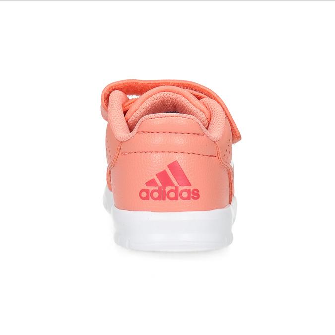 Różowe trampki dziewczęce na rzepy adidas, różowy, 101-5151 - 15
